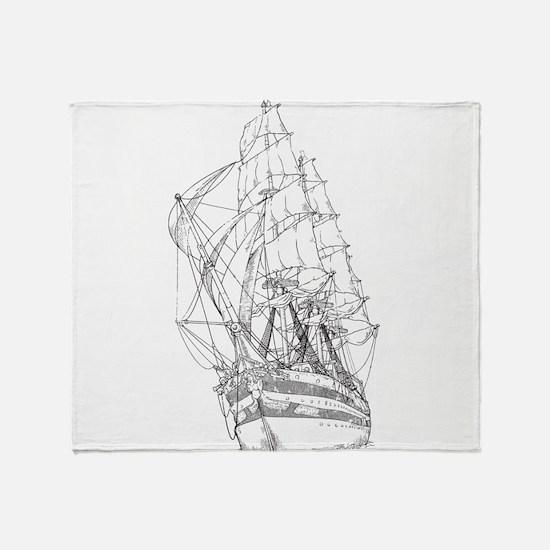 Ship Throw Blanket