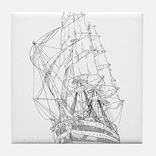 Ship Tile Coaster