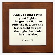 Genesis 1:16 Framed Tile