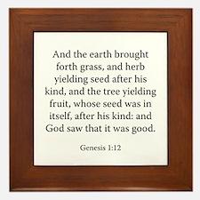 Genesis 1:12 Framed Tile