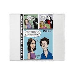 Halloween Evolution of the Vampire Throw Blanket
