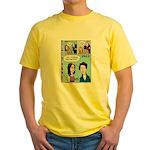 Halloween Evolution of the Vampire Yellow T-Shirt