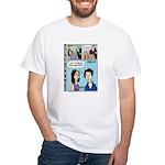 Halloween Evolution of the Vampire White T-Shirt