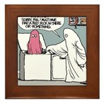 Halloween Daddys Home Ghost Framed Tile