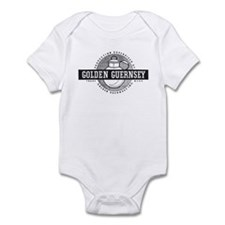 B&W Golden Guernsey logo Infant Creeper