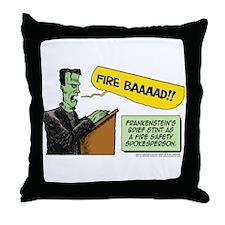 Halloween Daddys Home Frankenstein Throw Pillow