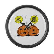 Halloween Daddys Home Pumpkins Large Wall Clock