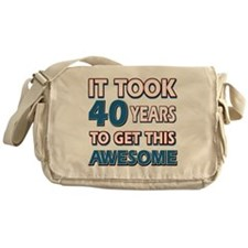 40 Year Old birthday gift ideas Messenger Bag