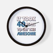 40 Year Old birthday gift ideas Wall Clock
