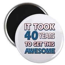 40 Year Old birthday gift ideas Magnet