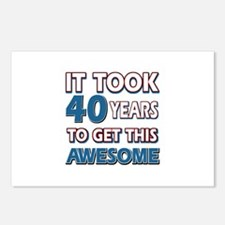 40 Year Old birthday gift ideas Postcards (Package
