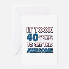 40 Year Old birthday gift ideas Greeting Card