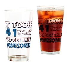 41 Year Old birthday gift ideas Drinking Glass