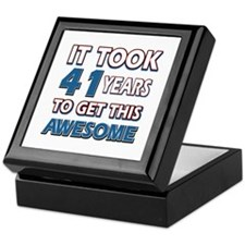 41 Year Old birthday gift ideas Keepsake Box