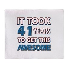 41 Year Old birthday gift ideas Throw Blanket