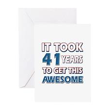 41 Year Old birthday gift ideas Greeting Card