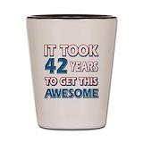 42nd birthday Shot Glass