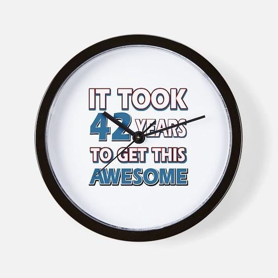 42 Year Old birthday gift ideas Wall Clock