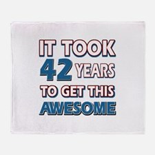 42 Year Old birthday gift ideas Throw Blanket