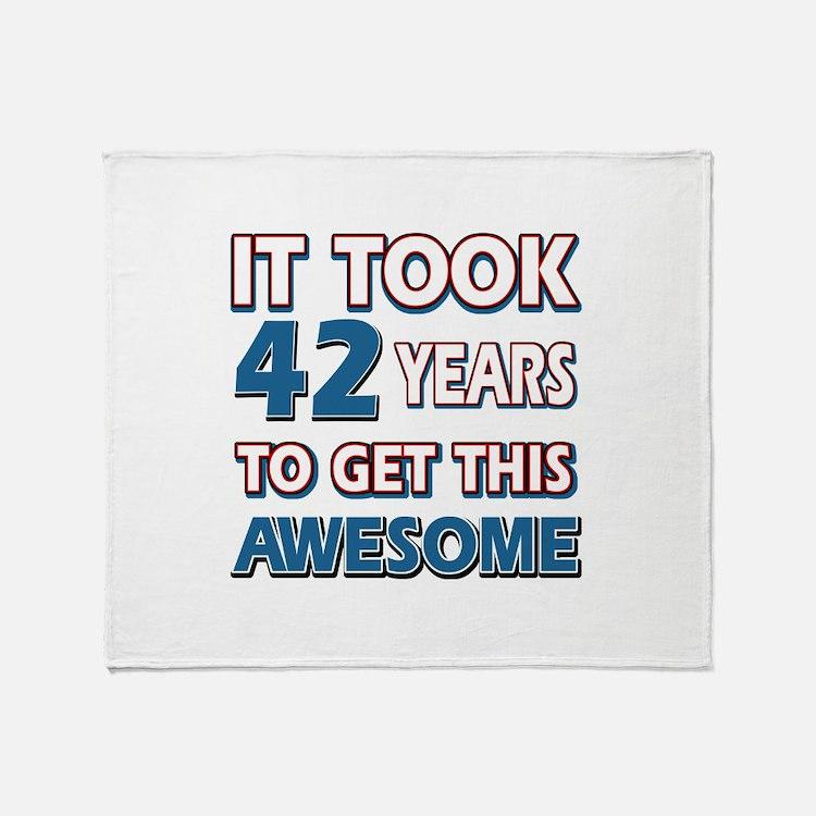 42 Year Old birthday gift ideas Throw Blanket