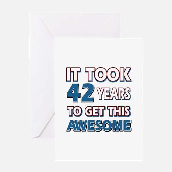 42 Year Old birthday gift ideas Greeting Card