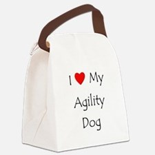 I Love My Agility Dog Canvas Lunch Bag