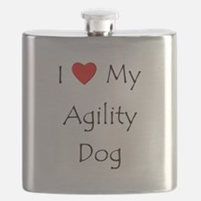 I Love My Agility Dog Flask