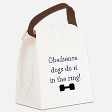 obedience dogs do it in the Canvas Lunch Bag