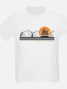 Happy Halloween (Haunted Hous Kids T-Shirt