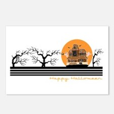 Happy Halloween (Haunted Hous Postcards (Package o