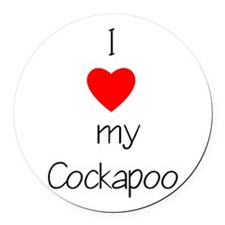 cockapoolovemy.png Round Car Magnet
