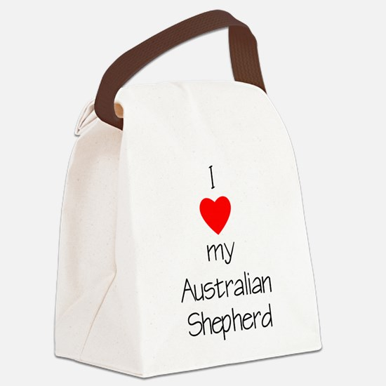 lovemyashep.png Canvas Lunch Bag