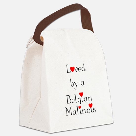 lovedbelgmal.png Canvas Lunch Bag