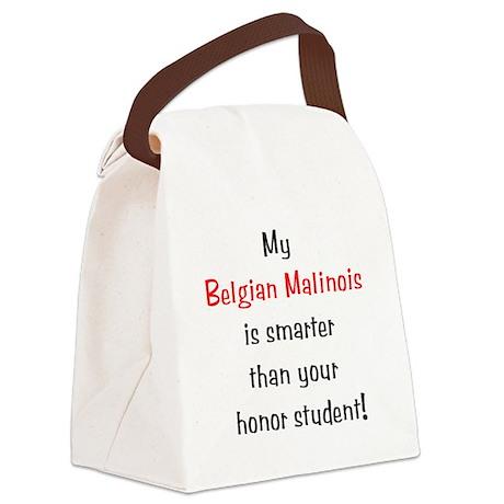 smarterbelgmal10.png Canvas Lunch Bag