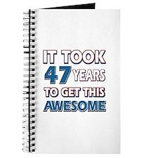 47 Year Old birthday gift ideas Journal