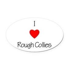 loveroughcollies.png Oval Car Magnet
