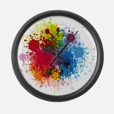 Abstract Paint Large Wall Clock