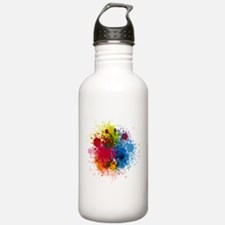 Abstract Paint Water Bottle