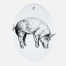 Piggy Ornament (Oval)