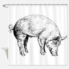 Piggy Shower Curtain