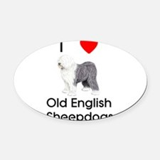 loveoespic.png Oval Car Magnet