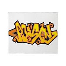 Poison Graffiti Throw Blanket