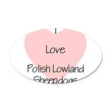 lovepolishlow2.png Oval Car Magnet