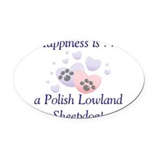 happinesspolishlow.png Oval Car Magnet