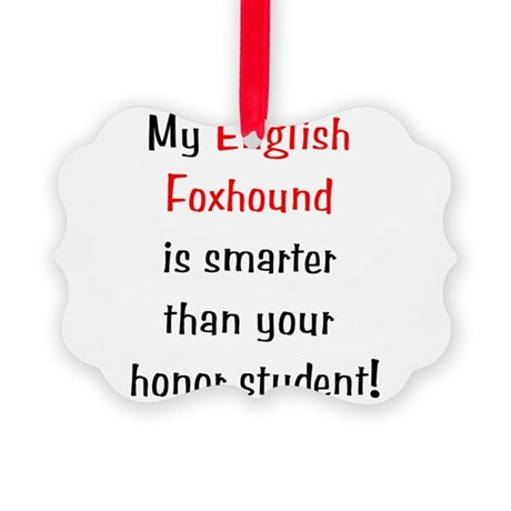 englishfoxhoundsmarter10.png Picture Ornament