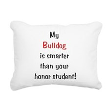 smarterbulldog10.png Rectangular Canvas Pillow