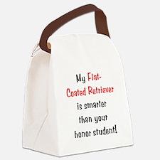 flatcoatedsmarter10.png Canvas Lunch Bag