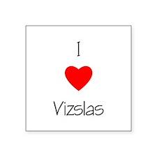 """lovevizslas.png Square Sticker 3"""" x 3"""""""