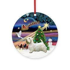 Xmas Magic & Sealyham Terrier Ornament (Round)