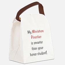 miniaturepinschersmarter10.png Canvas Lunch Bag